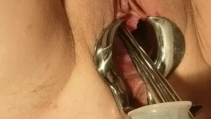 female-medical-play-speculum-stretched-pussy-urethral-peehole-stretching