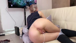 step-sister-gets-a-creampie-and-facial-while-playing-a-game-eva-elfie