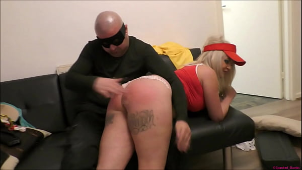 bratty-blonde-pizza-delivery-girl-gets-her-big-bum-spanked-red-raw-tied-up-tightly-then-strapped-in-a-nappy-diaper-to-punish-humiliate-her