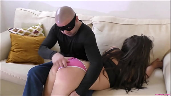 bratty-burglar-babe-gets-her-big-bum-spanked-red-raw-taped-up-panty-gagged-then-strapped-in-a-nappy-diaper-to-really-punish-humiliate-her