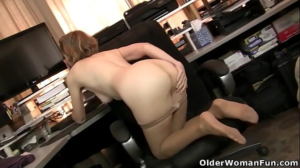 nyloned-milf-alby-daor-dildos-her-shaven-pussy