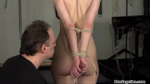 rope-bondage-and-sexy-restrained-kinky-brunette-struggling-in-hard-tied-dungeon